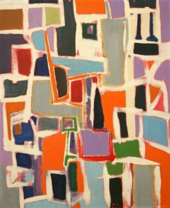 "Untitled Abstraction, 1956-57 - Oil on masonite, 24"" x 19 3/4"""